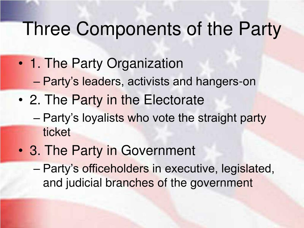 Three Components of the Party