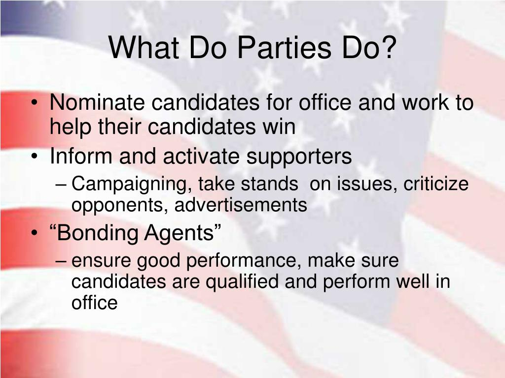 What Do Parties Do?