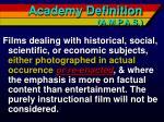 academy definition a m p a s