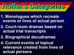 hoffer s categories