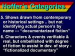 hoffer s categories12