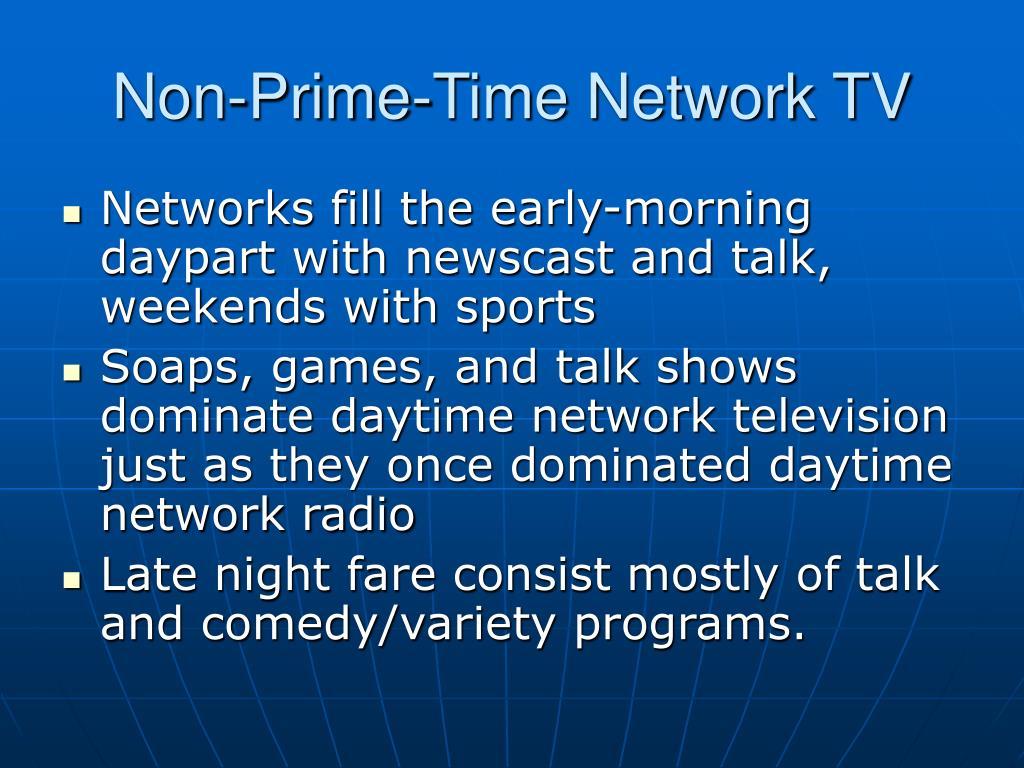 Non-Prime-Time Network TV
