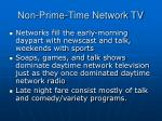 non prime time network tv