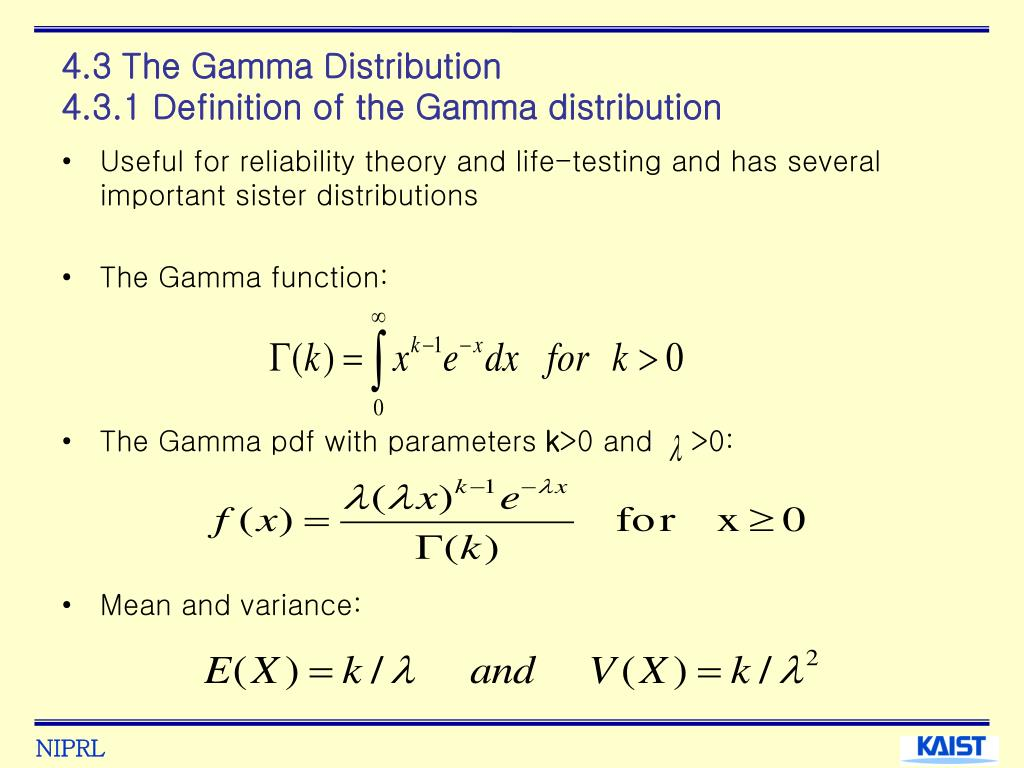 4.3 The Gamma Distribution