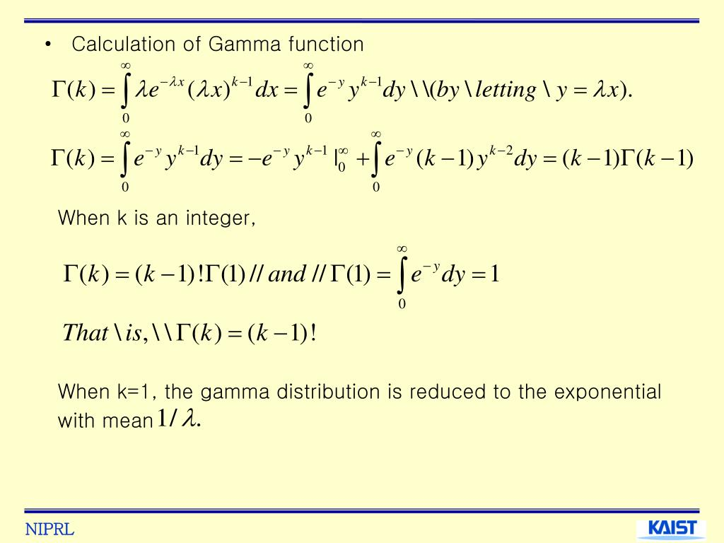 Calculation of Gamma function