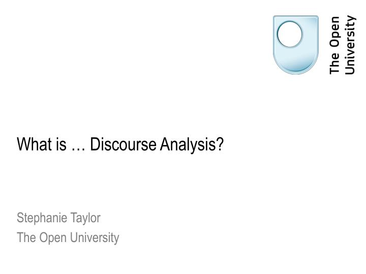 what is discourse analysis n.