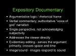 expository documentary