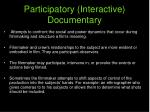 participatory interactive documentary