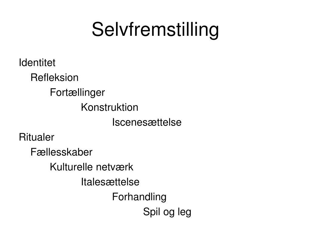 Selvfremstilling