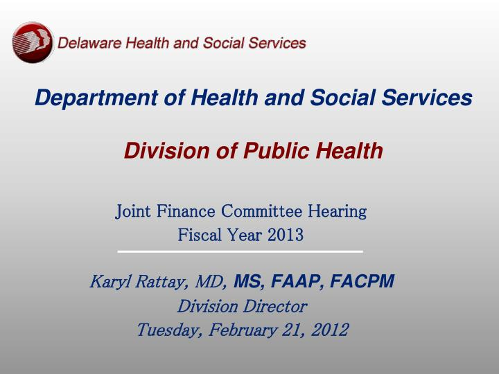 department of health and social services division of public health n.
