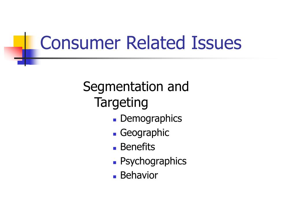 Consumer Related Issues