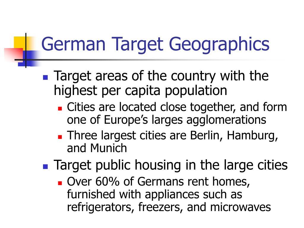 German Target Geographics