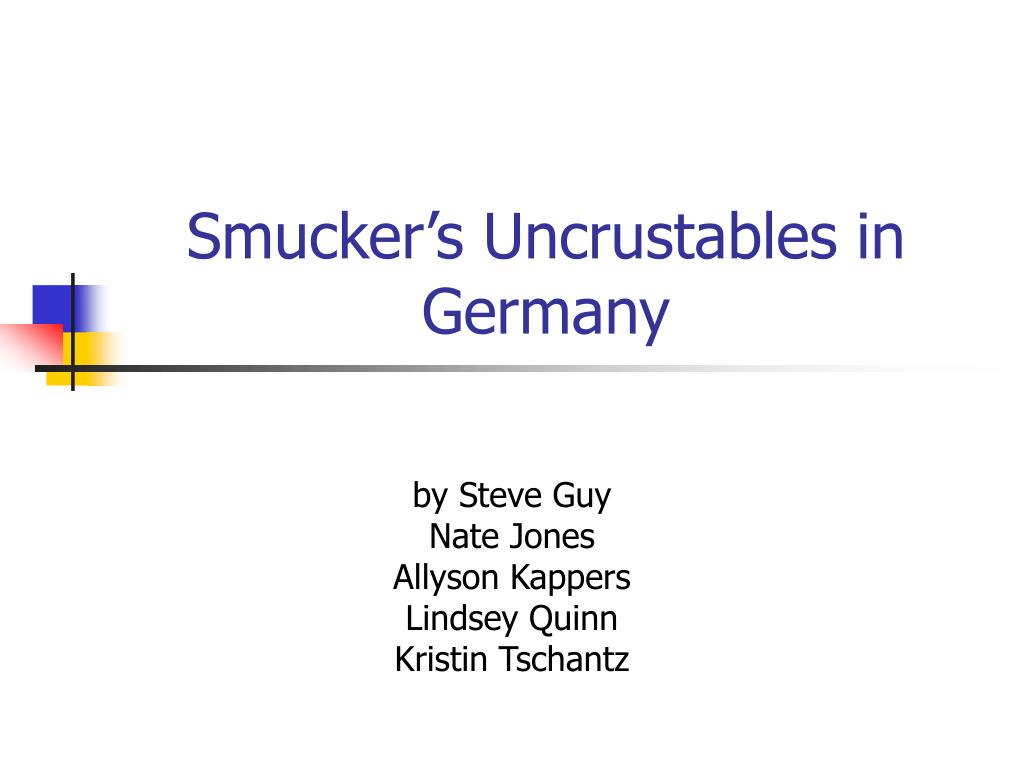 smucker s uncrustables in germany l.
