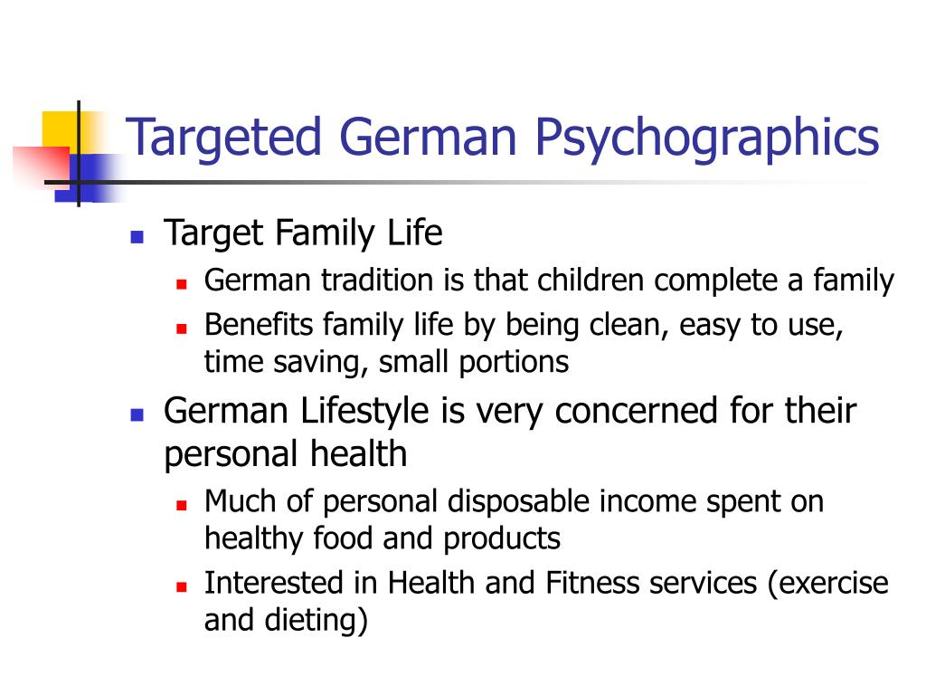Targeted German Psychographics