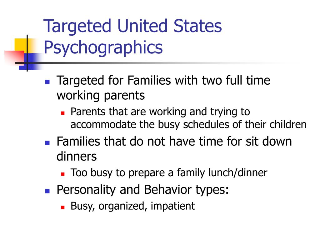 Targeted United States Psychographics