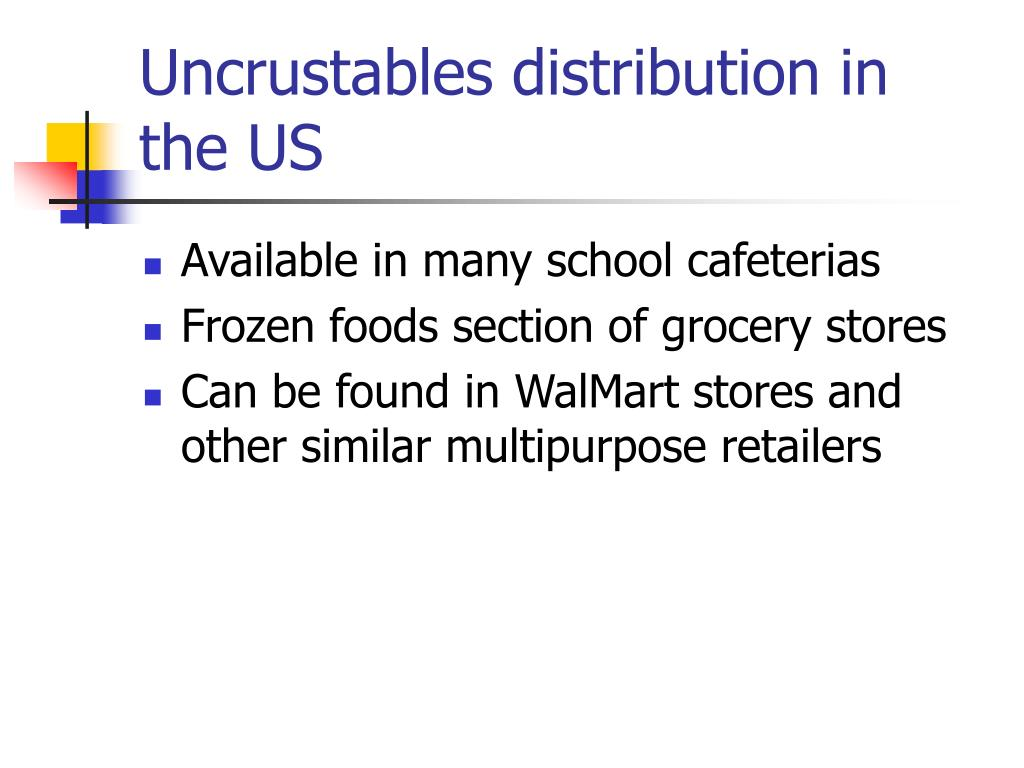 Uncrustables distribution in the US