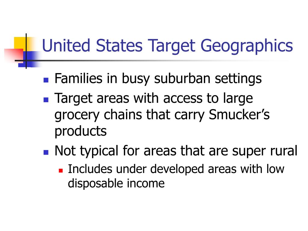 United States Target Geographics