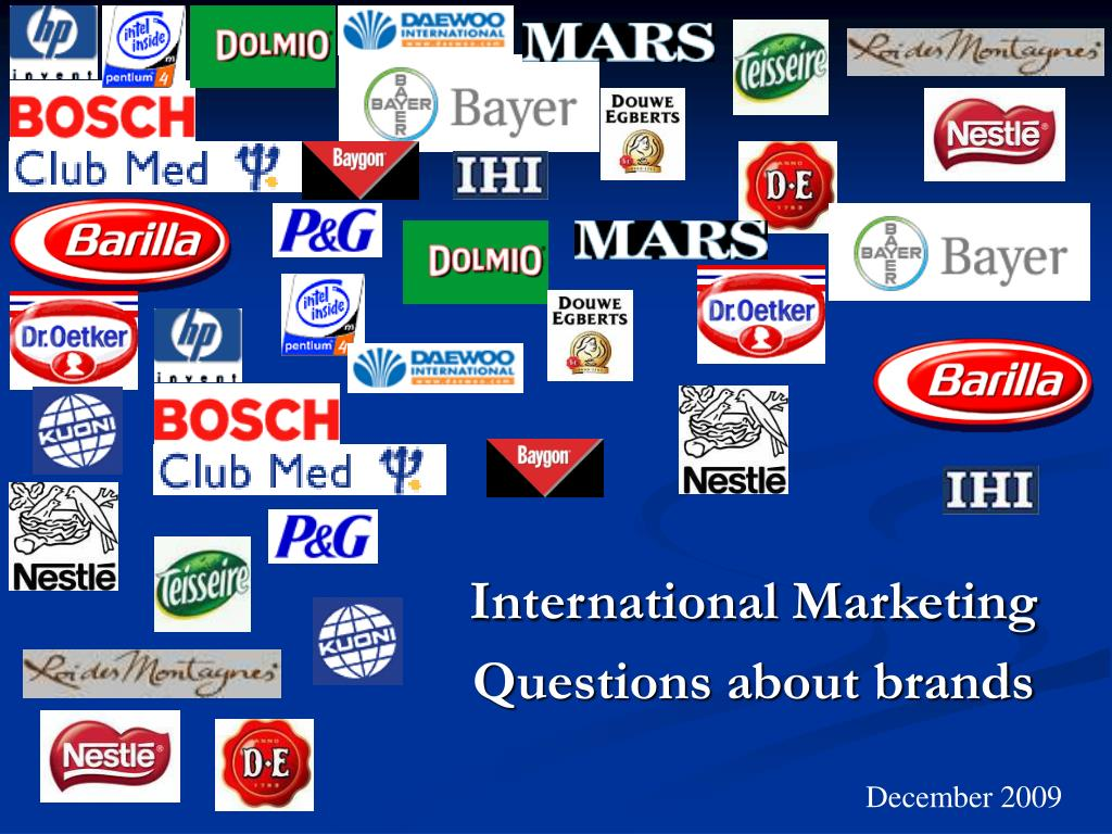 international marketing questions about brands l.