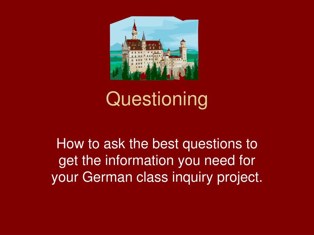 questioning l.