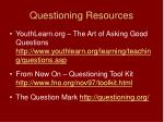 questioning resources