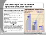 the ebrd region has a substantial agricultural production potential
