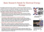 basic research needs for electrical energy storage