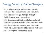 energy security game changers