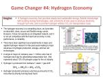 game changer 4 hydrogen economy