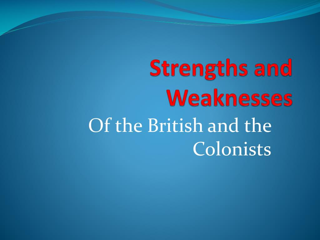 my strengths and weaknesses in english
