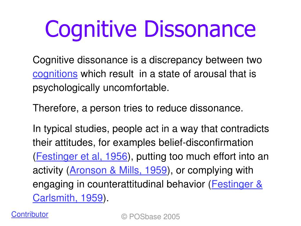 a personal example of cognitive dissonance Cognitive dissonance is the feeling of uncomfortable tension which comes from holding two conflicting thoughts in the mind at the same time example smokers find.