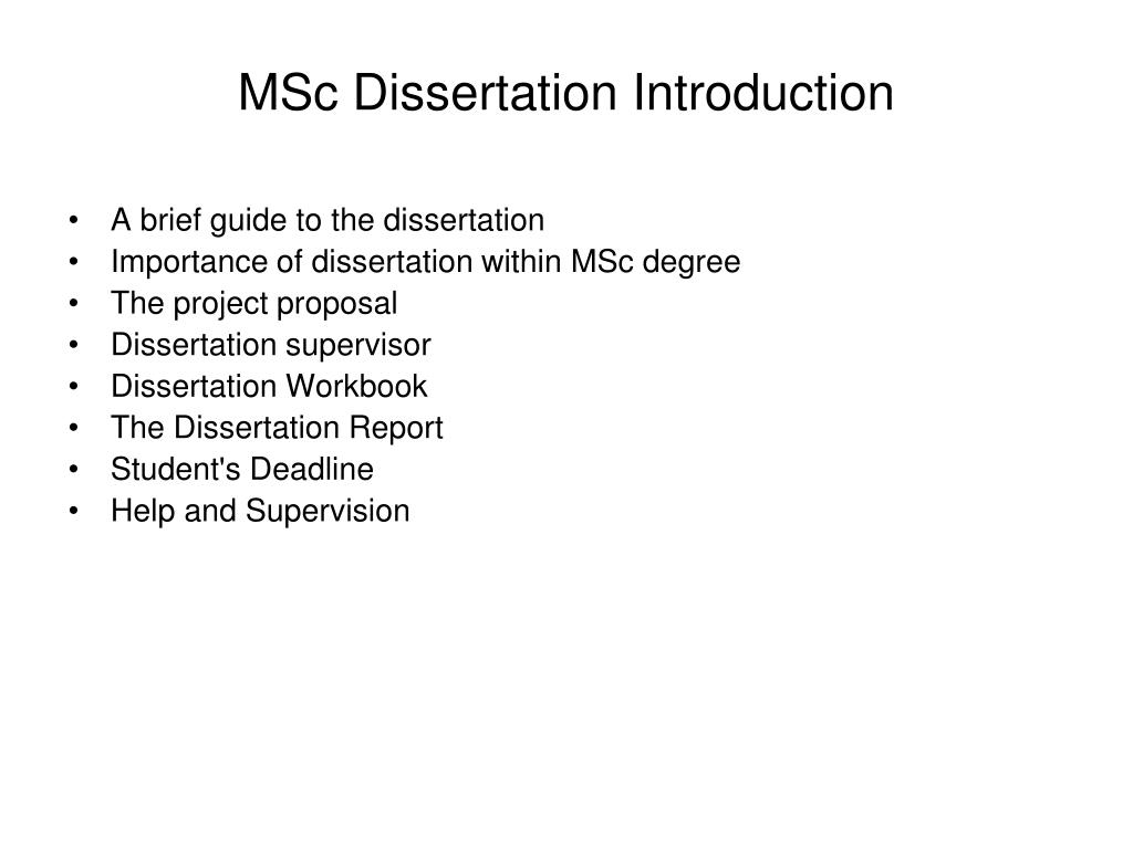 How to write a great dissertation introduction