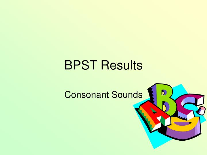 bpst results n.