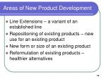 areas of new product development