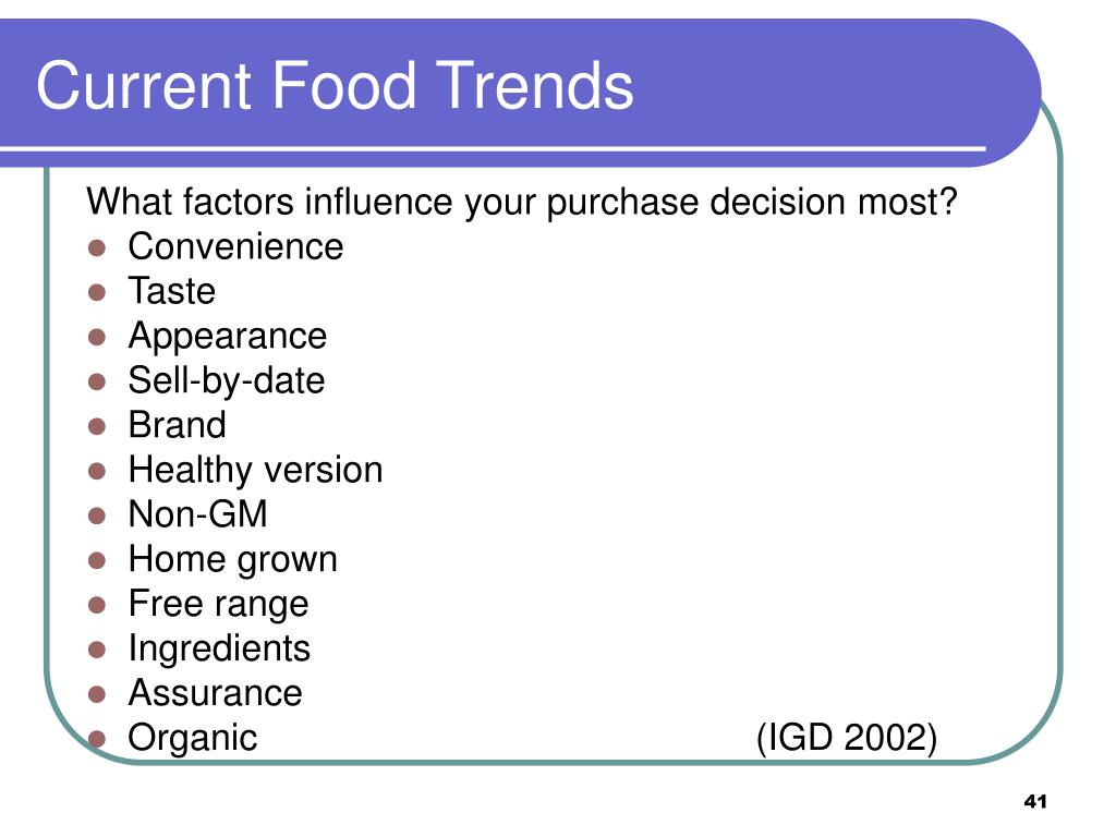 Current Food Trends