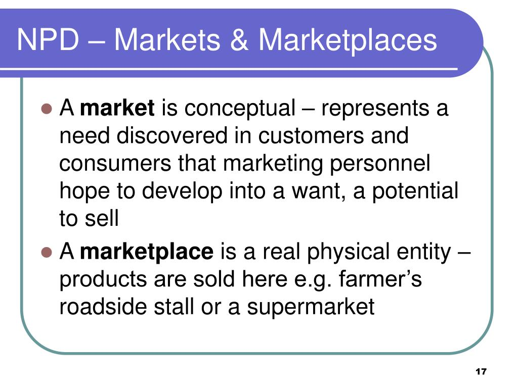 NPD – Markets & Marketplaces