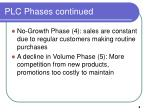 plc phases continued