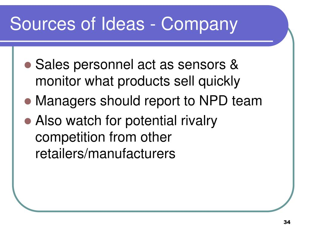 Sources of Ideas - Company