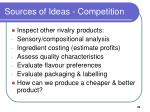 sources of ideas competition
