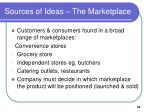 sources of ideas the marketplace