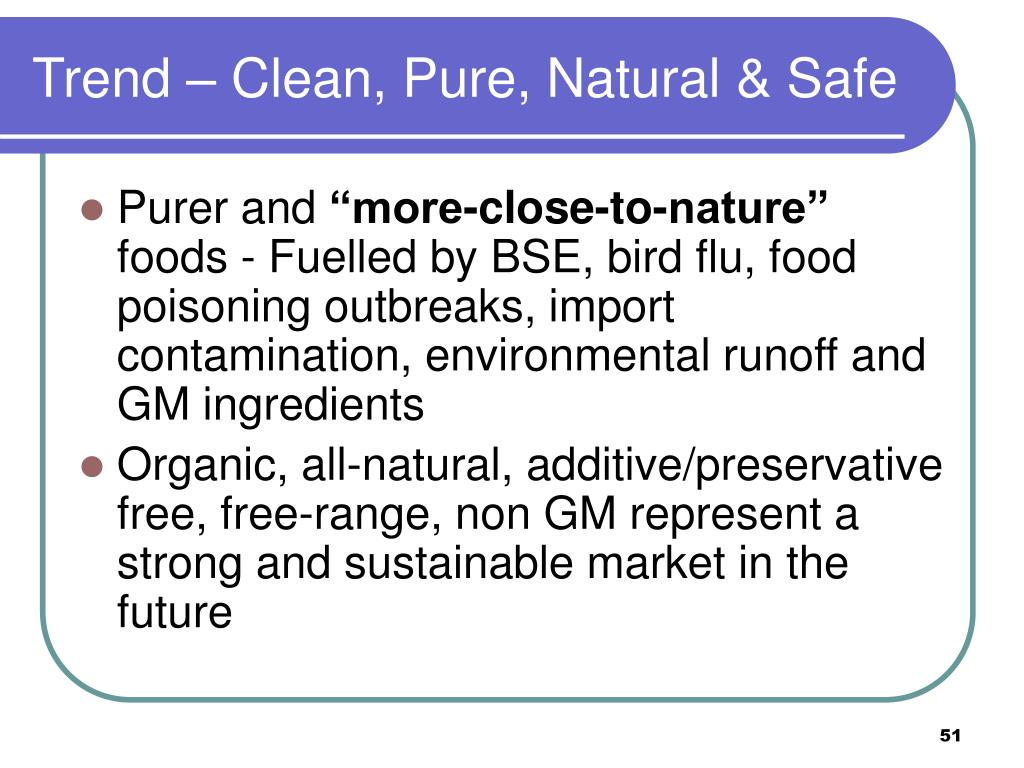 Trend – Clean, Pure, Natural & Safe