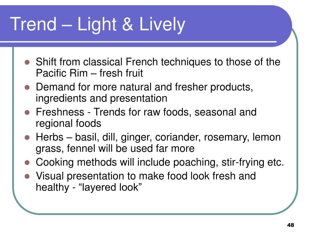 Trend – Light & Lively