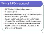 why is npd important
