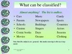 what can be classified