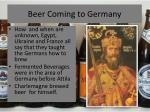 beer coming to germany