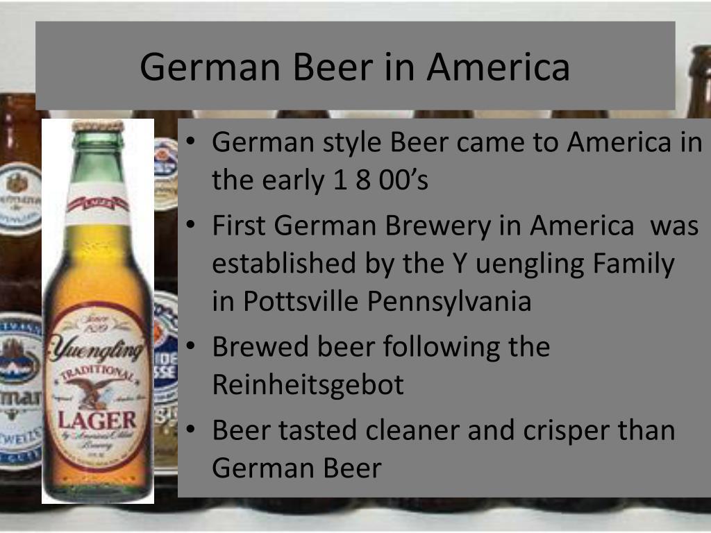 German Beer in America