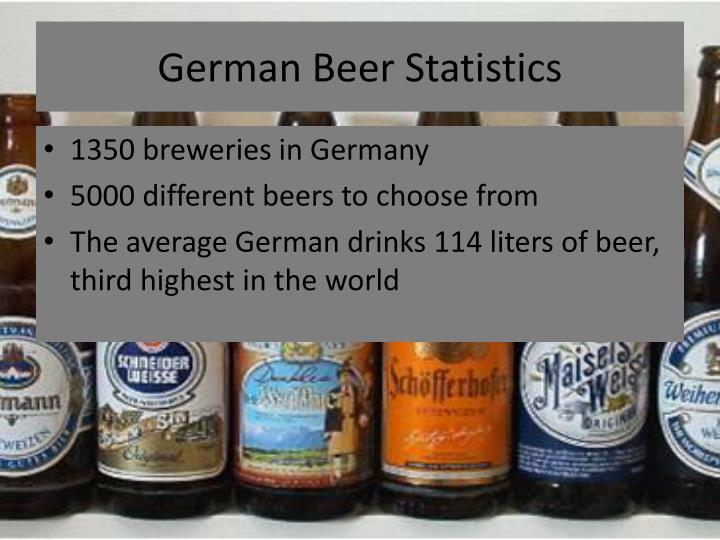 German beer statistics