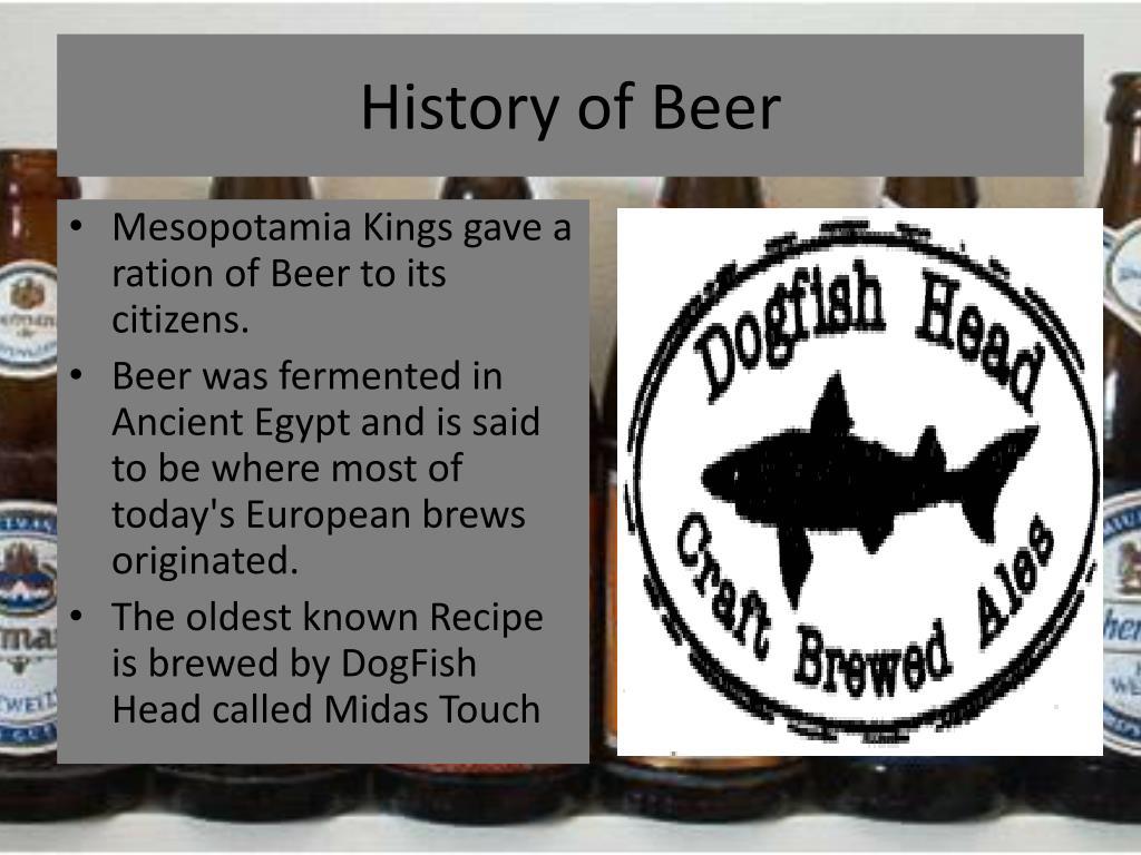 History of Beer