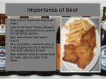 importance of beer