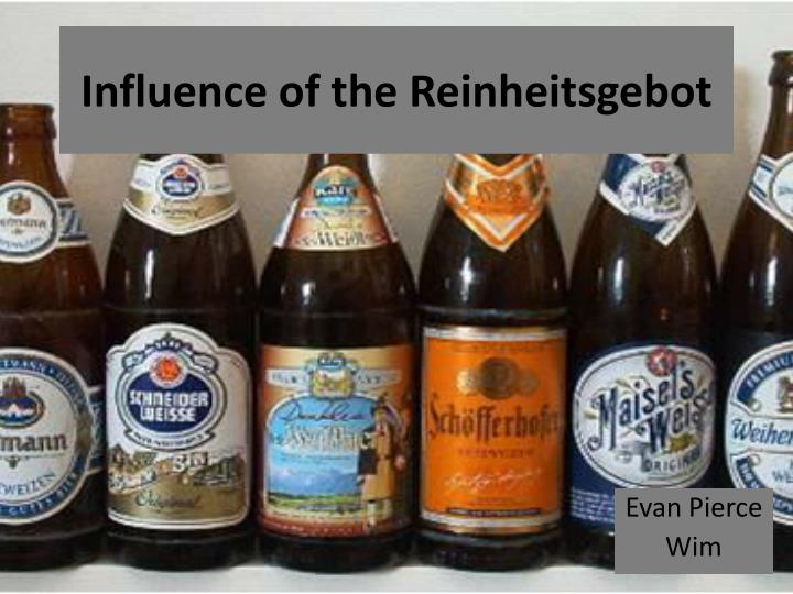 Influence of the reinheitsgebot