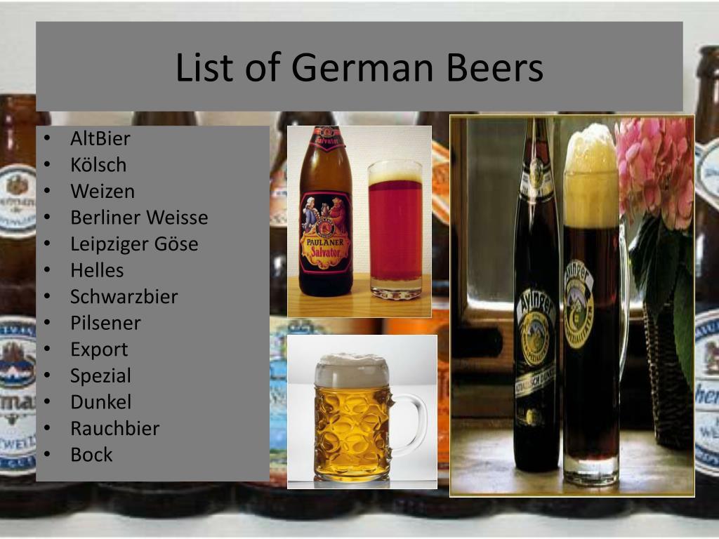 List of German Beers